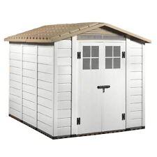 Casetta PVC box porta attrezzi con pavimento finestre giardino TUSCANY EVO 240