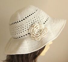 CROCHET PATTERN / INSTRUCTION LEAFLET to make a WIDE BRIMMED SUN HAT Ref.11S
