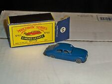 Vintage Matchbox 65 Jaguar Blue with Gray Wheels MIB