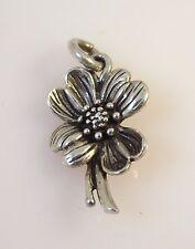 .925 Sterling Silver 3-D DOGWOOD CHARM Flower Garden Tree NEW 925 GA19