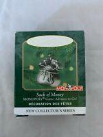 2000 Hallmark Keepsake Miniature Monopoly Sack of Money Game Advance To Go