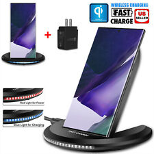 For Samsung Galaxy Note20 Ultra Qi Wireless Fast Charger Quick Charging Dock Pad
