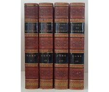 Oeuvres de Boileau 4/4 Superbes reliures plein veau glacé grenat Lefèvre 1821