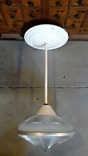 Reclaimed Vtg Industrial Holophane Pendant light from Indianapolis Airport Demo