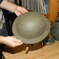 WORLD WAR 1 HELMET BRITISH INFANTRY W EATHER STRAPS WWI GREAT SHAPE SUPER RARE