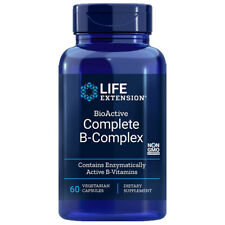 BioActive B-Complex Complete 60 caps Life Extension - Inositol/P-5-P/methyl