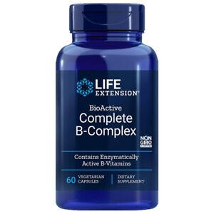 BioActive B-Complex Complete 60 caps Life Extension - Inositol/P-5-P/methyl