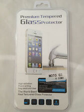 TEMPERED GLASS SCREEN PROTECTOR ANTI SCRATCH FILM For Motorola Moto G 3 2015 3nd