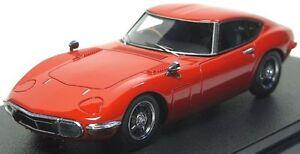 RARE! HPI #8331 Toyota 2000GT Solar Red 1/43 Resin Model JDM