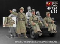 Hobby Fan 1/35 HF-724 WWII German VK128 Crews in Eastern Front - 3 Figures
