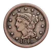 Braided Hair Large Cent in Circulated Condition 1839-1857 Random Coin