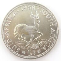 .SOUTH AFRICA. SUPERB aUNC 1958 5 SHILLINGS COIN.