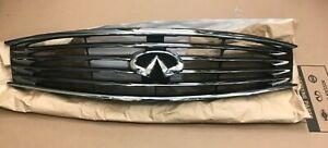 NEW OEM INFINITI Front Radiator Chrome Grille w/Emblem 62070JL00B G37 Coupe Q60