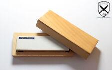 Arkansas Abziehstein Naturschleifstein Messerschärfer ca.100x30mm mit Holzkiste.