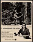 1945 BELL TELEPHONE SYSTEM - WWII U.S Marine -Switchboard inTree- VINTAGE AD