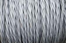 1 METRO 3 Core Argento appese Luce Flex filo intrecciato contorto Made in UK b9