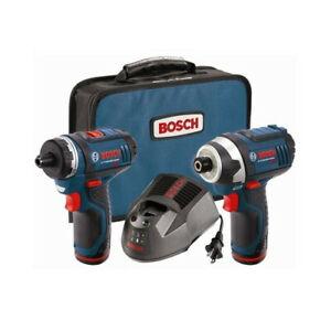 Bosch 12V Max Drill/Impact Driver Combo Kit CLPK27-120 Certified Refurbished