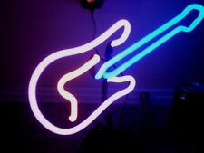 """ GUITAR "" NEON LITE SIGN, VINTAGE / NEW IN THE BOX, 14.5"" INCH  COLORED NEON"