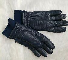 Vintage Olympia Ladies Navy Leather Gloves Med