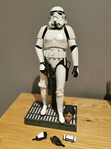 SIDESHOW STAR WARS STORMTROOPER 1/6 first release with custom Han Solo Head