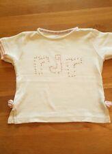 Girls white dot 2 dot tshirt rocha john rocha top with bows 3-4 years debenhams