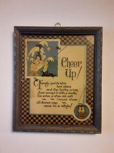 Cheer Up! Vintage Framed Motto