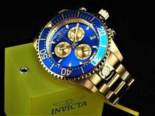 NWT Invicta Mens 47mm GRAND DIVER Swiss ETA Chronograph 18KGP Blue Dial SS Watch