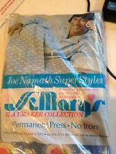 Joe Namath Sheets and pillow case- Twin set Lot 1 Flat,2 Fitted & 2 pillow cases