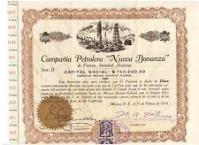 Mexico: Compania Petrolera Nueva Bonanza 1914  uncanelled