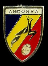 ANDORRA RUGBY FEDERATION OLD VINTAGE SPORTS PIN BADGE 1960's RARE