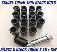 BLACK Bloccaggio Dadi Delle Ruote 12x1.5 bulloni per Opel Mokka 12-16