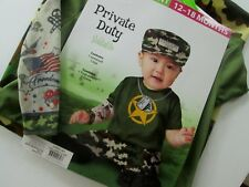 Soldier Army Military Costume Infant Size 12-18 Months Private Duty