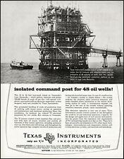 1961 Lake Maracaibo Venezuelan Sun Oil Co Texas Instruments photo print ad adL39