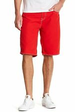 True Religion Big T Board Shorts Men's Swimming Surf 100715 Red Authentic 38