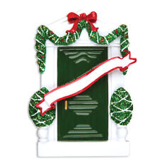PERSONALIZED CHRISTMAS ORNAMENT HOME-GREEN DOOR