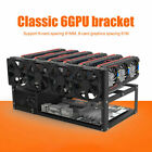 Open Air Miner Mining Frame Rig Case Bis zu 6/8 GPU für Crypto Currency Mining