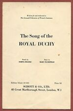 Mary Plumstead, Song of the  Royal Duchy, Cornwall, 1955, sheet-music , zm80