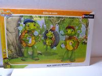 2 puzzles franklin et ses amis 15 pièces , nathan , 3/4 ans (cp1)