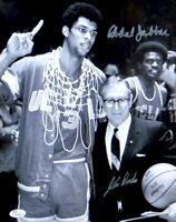 Kareem Abdul Jabbar John Wooden Signed Autographed 11X14 Photo UCLA Bruins JSA B