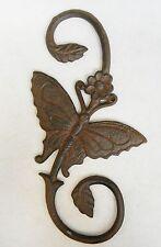 "Garden Plant Hanger Cast Iron Butterfly  Dark Brown Metal ""S"" Hook  11"""