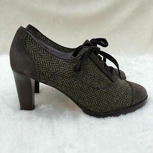 Johnston & Murphy Women's Gail Piped Oxford Pump Heel Lace Career Shoe Size 9
