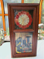 2005 Bradford Exchange Timeless Tradition of Bravery Plate Clock - Firefighters