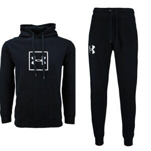 Under Armour UA Men's Rival Fleece Logo Hoodie & Joggers Sweatpants Outfit Set