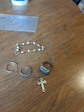 Silver Lot Of 7 Items Jewelry