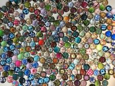 BB 12MM GLASS CABOCHONS pack of 30 mixed designs craft flatbacks