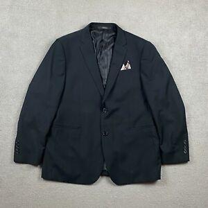 Marchatti Men's Long Sleeve Jacket Blazer 44R 38W Black Polyester 2 Button