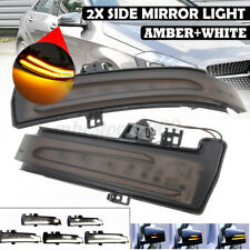Dual Color Dynamic LED Side Mirror Indicator Turn Signal Light For Mercedes W204