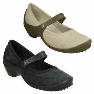 WRAPPED WEDGE WOMEN LADIES CROCS SLIP ON LEATHER LOW HEEL CASUAL MARY JANE SHOES