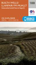 Builth Wells Painscastle and Talgarth 188 Explorer Map Ordnance Survey With Digi