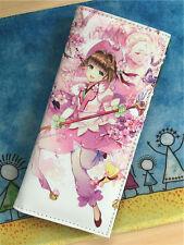 Cosplay Anime Card Captor Sakura Toy women Long Button Wallet Purse Coin Bag New